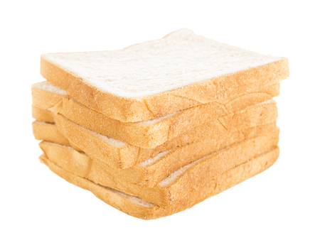 untidy: isolated of bread slice untidy stack on white background