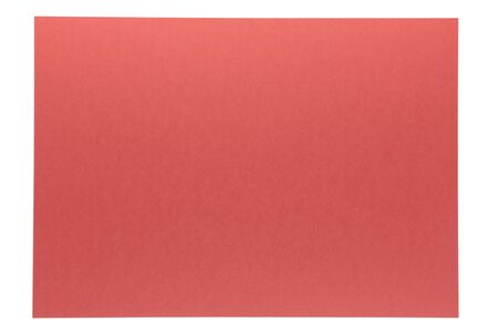 isolation of vivid red paper on white background Stock Photo