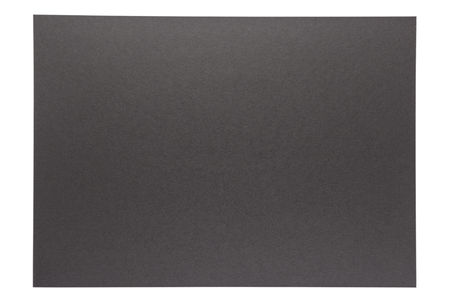isolation of pure black paper on white background Stock Photo
