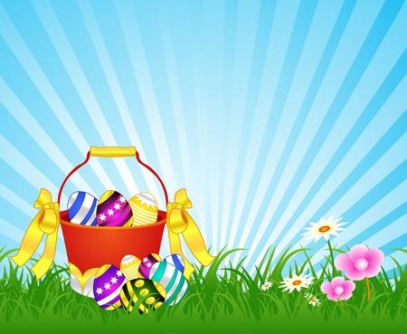 Easter Eggs in een emmer