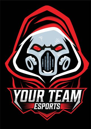 ghost mask gaming mascot icon