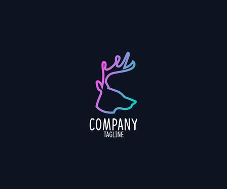 Deer Logo template illustration  イラスト・ベクター素材