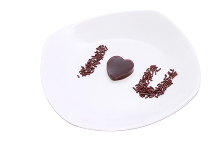 shot of a heart shaped pudding  Stock Photo - 13135648