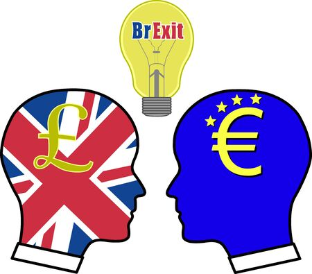 Concept vector illustration of BrExit Çizim