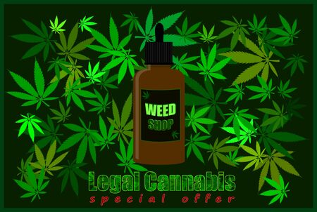 Vector illustration usable for the sale of legal weed products.