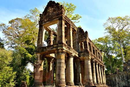 View of the incredible Preah Khan temple in the Angkor complex, Cambodia Stock fotó
