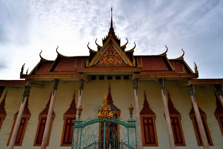 View of a building of the Royal Palace complex of Phnom Penh, Cambodia