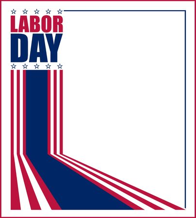 Vector illustration for US Labor Day celebration