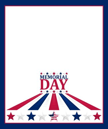 Vector illustration for US Memorial Day celebration. Perfect for any use. Vectores