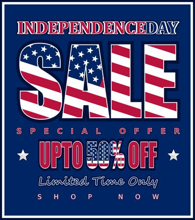 Independence Day Sale, up to 50% off: Vector for your business.