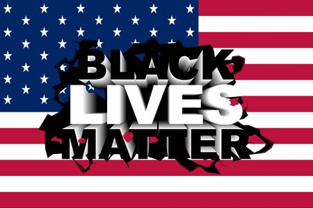 Conceptual vector illustration about the Black Lives Matter movement.