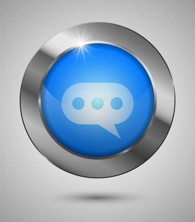 EPS10 Chat Button. Perfect for your website or app or any use you want to make of it.