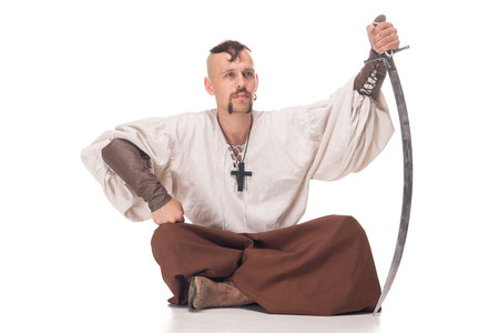 historical periods: Cossack isolated Stock Photo