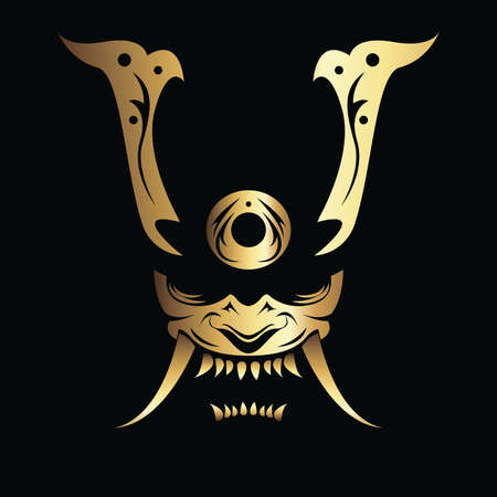 Vector Image of a Samurai Mask