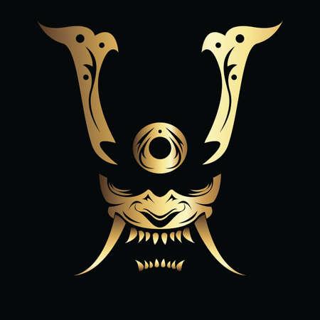 Vector Image of a Samurai Mask Stock Illustratie