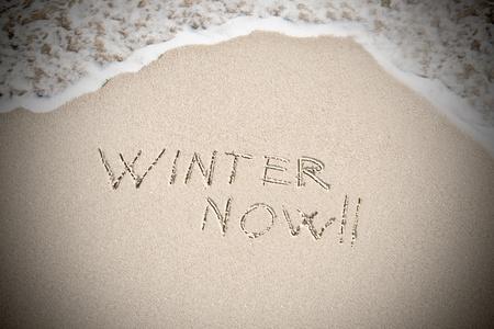 i hope: Concept: I hope winter arrives, now!  Stock Photo