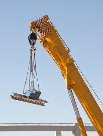 Crane in action in the construction site