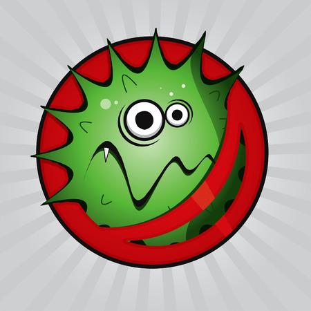 dientes sucios: Virus de dibujo