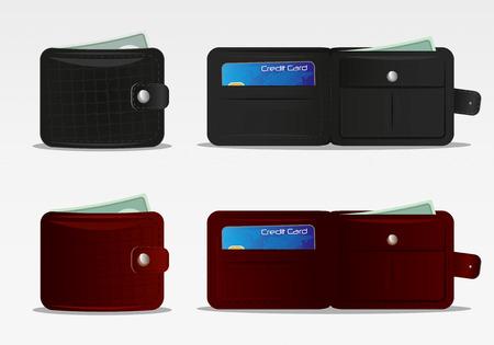 Wallet Icon Set 1 Vector