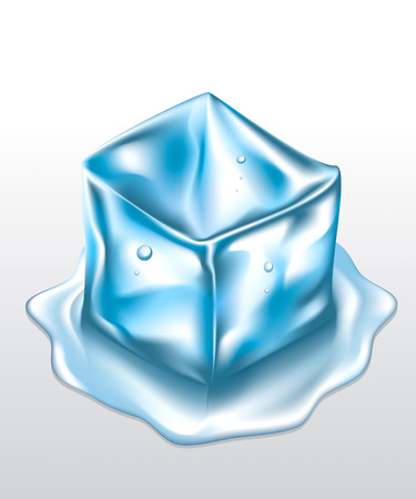 ice cube mesh drawing Vector