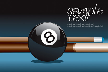 8 Ball and Stick Stock Vector - 8544408