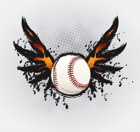 Baseball Ball Design Element