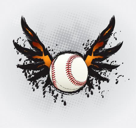 softbol: Elemento de dise�o de pelota de b�isbol  Vectores