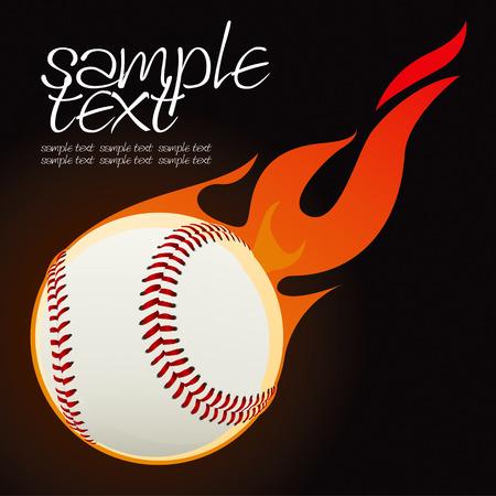 Baseball fire ball