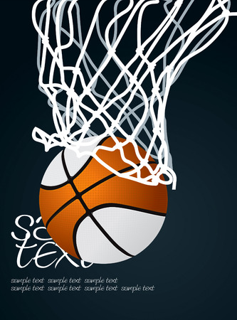 basketball shot: Basket 3 Vector Drawing