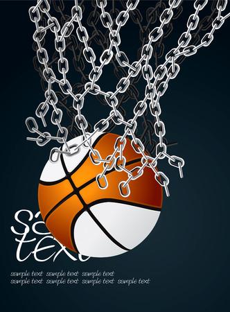 iron hoops: Basketball Basket Set 5  Illustration