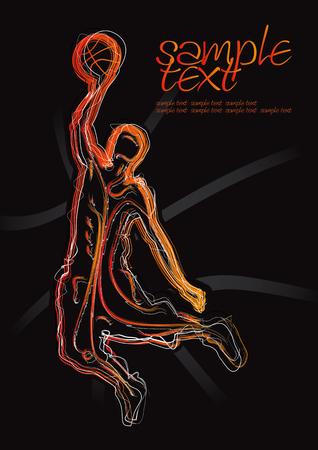 jump shot: Basketball Silhouette