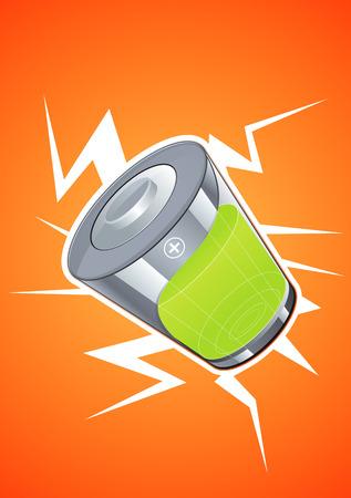 pilas: Tecnolog�a de las bater�as est� dise�ada para mostrar Vectores