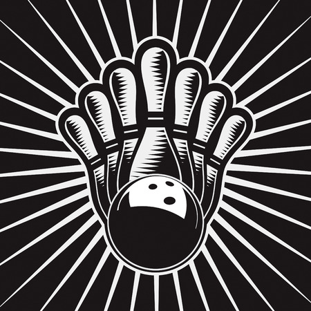 strike: Bowling Ball Design Element Set 4 Vector Drawing