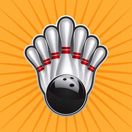 bowling pin: Bowling Ball Design Element