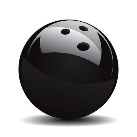 bolos: Bola de Bowling establecer 1 dibujo vectorial Vectores