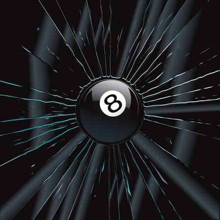 Broken Glass 2 8 Ball  Stock Vector - 8544440