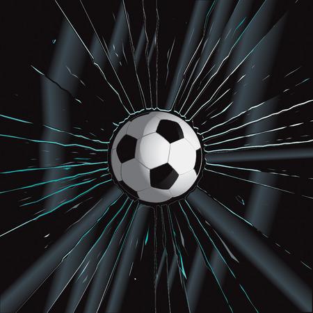 Broken Glass 2 Soccer Ball Vector Drawing Stock Vector - 8553442