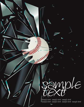 Gebroken glas honkbal tekening