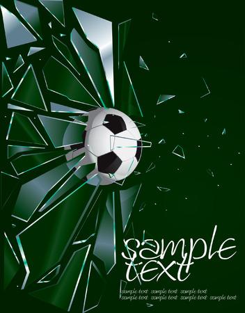 Gebroken glas Soccer Ball 2 tekening Vector Illustratie