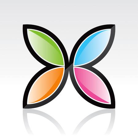 Dessin de Design de Logo papillon
