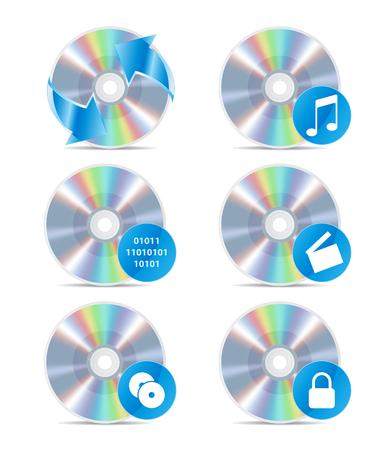 blueray: CD icon set drawing