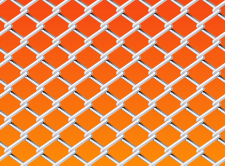 Chain Link Fence Set Drawing Vector