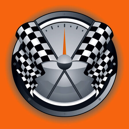 Dibujo de logotipo de bandera a cuadros Foto de archivo - 8596029