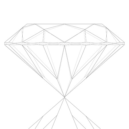Diamond Keyline Drawing Stock Vector - 8643688