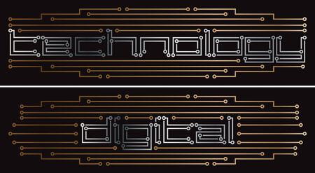 Digital printed circuit drawing Stock Vector - 8643703