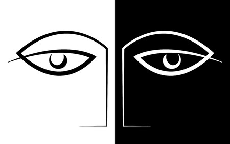 bad eyes: Face to Face Drawing