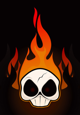 Fire Skull drawing