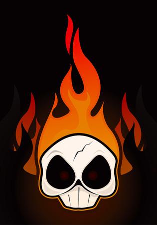 Dessin de crâne de feu