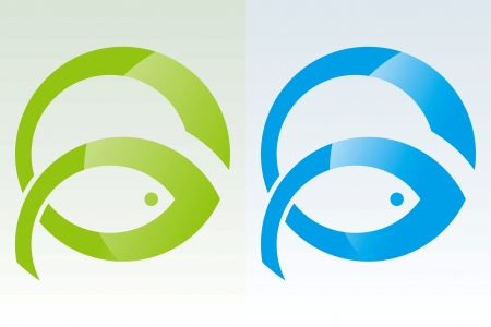 pez abstracto: Dibujo de alimentaci�n de peces