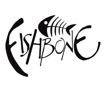 huesos: Dibujo de Fishbone Vectores